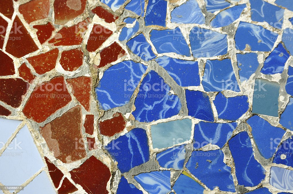 tile decoration, Barcelona royalty-free stock photo