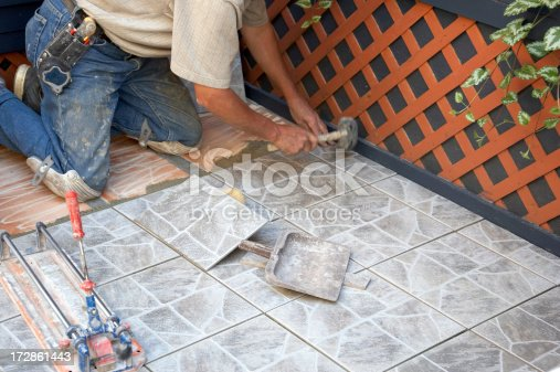 Tile layer at work