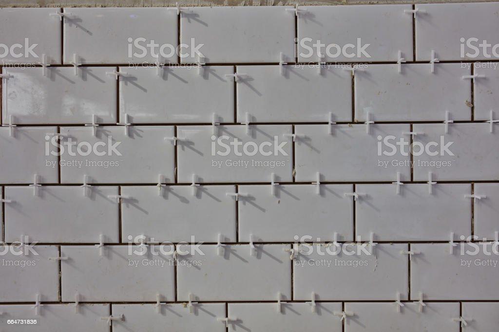 Tile lying stock photo