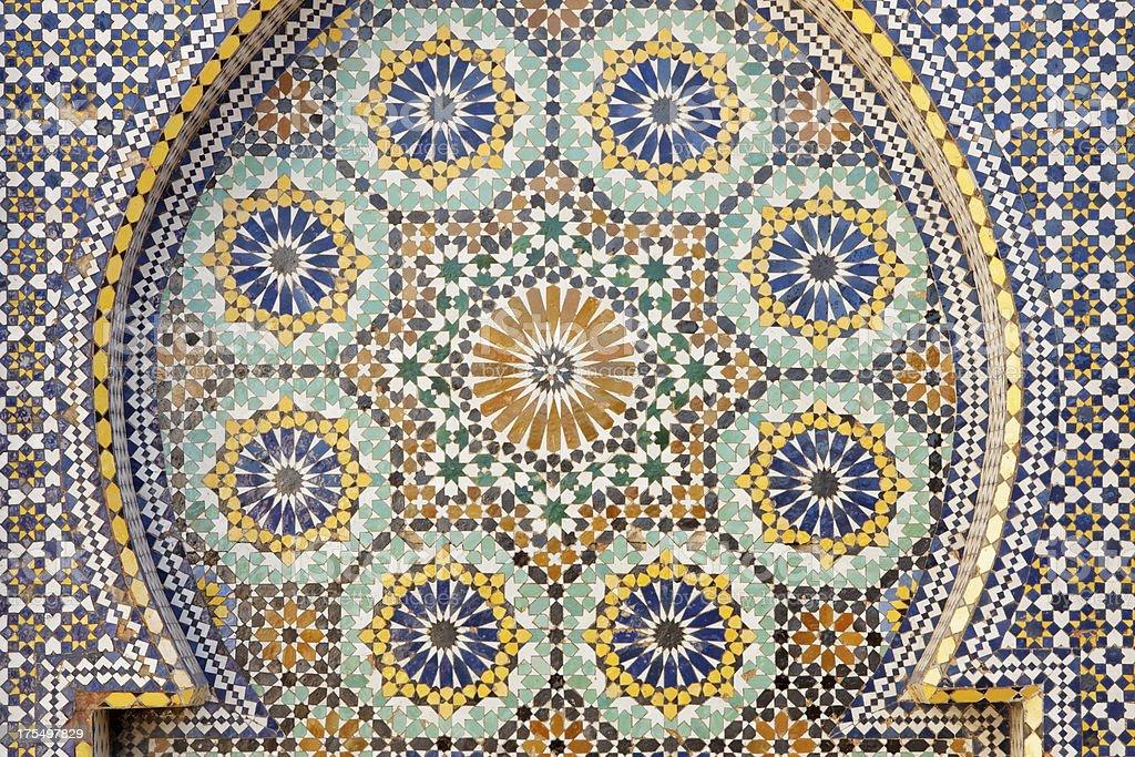 Mosaico di piastrelle marocco fotografie stock e altre immagini