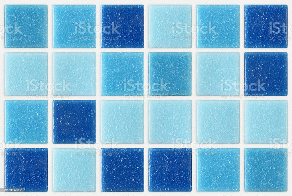 tile mosaic square blue texture background decorated glitter stock photo