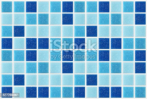istock tile mosaic square blue texture background decorated with glitte 527269361