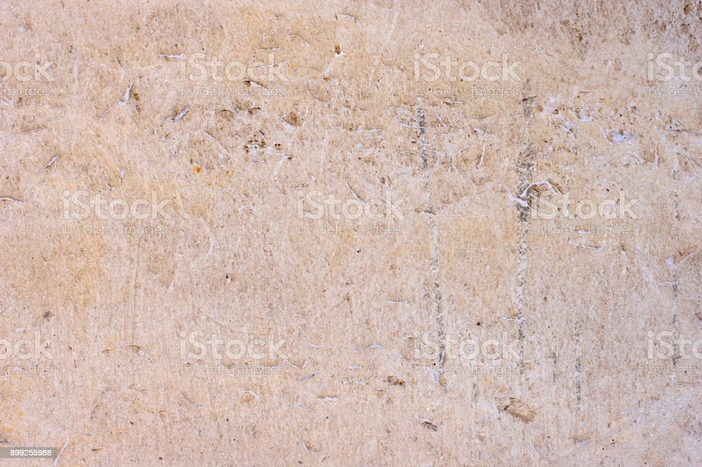 Tile Of Polished Gray Limestone As Finishing Material For Exterior A Building Royalty Free