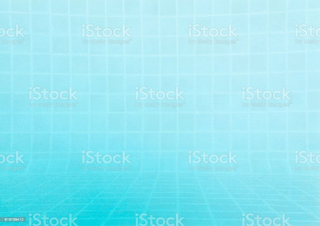 Tile pattern on blue background stock photo