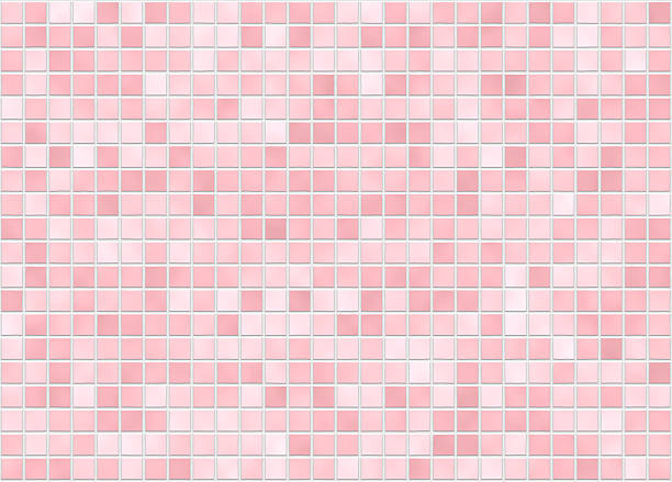 kachel pink variante - badezimmer wand stock-fotos und bilder