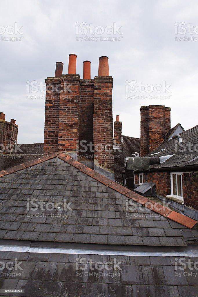 Tile roof  on Marlborough royalty-free stock photo