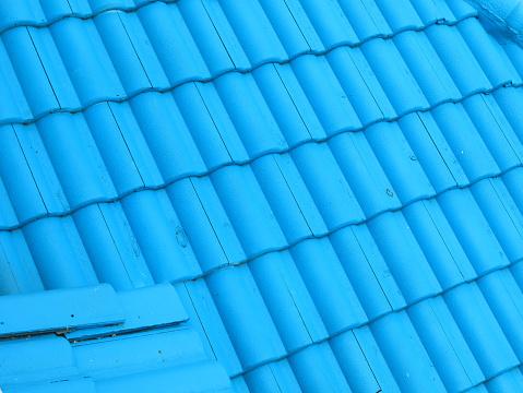 Tegel Dak Textuur Achtergrond Stockfoto en meer beelden van Architectuur