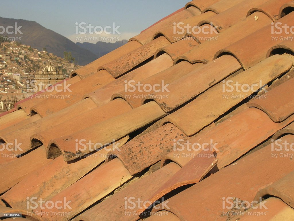 Tile Roof  With a View stock photo