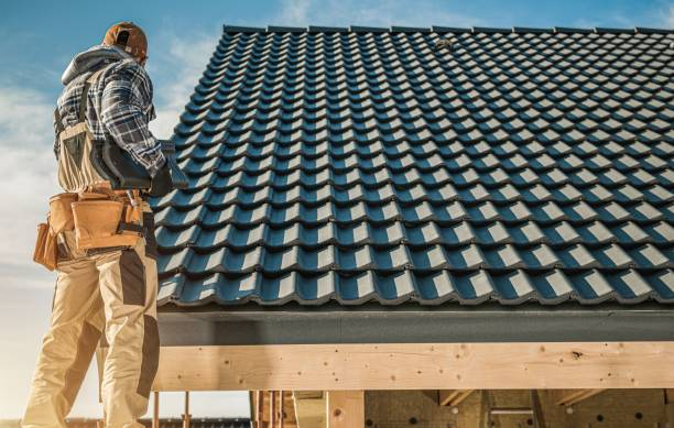 Tile Roofing Worker stock photo