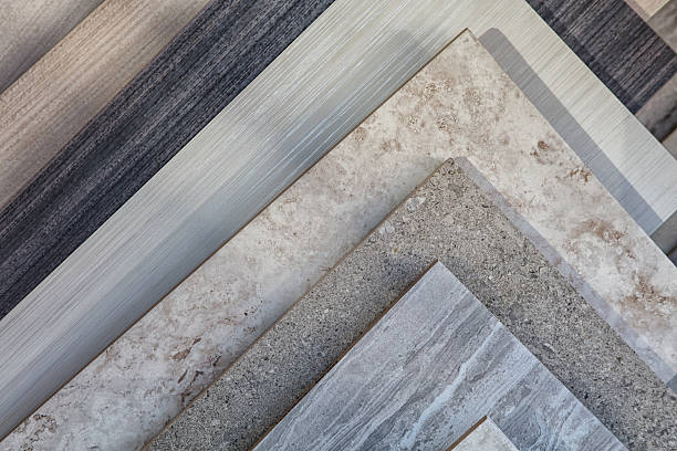 tile samples in store - material stock photos and pictures