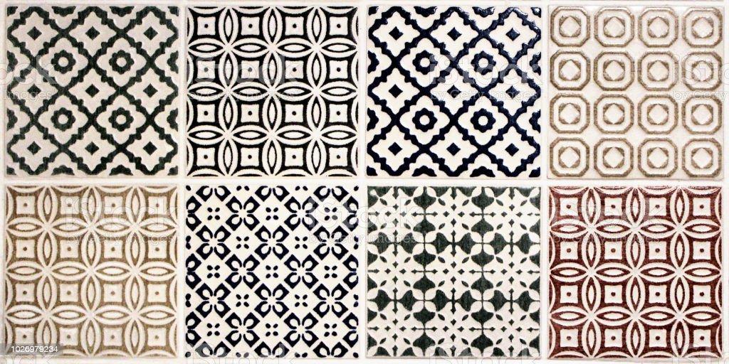 Tile selection stock photo
