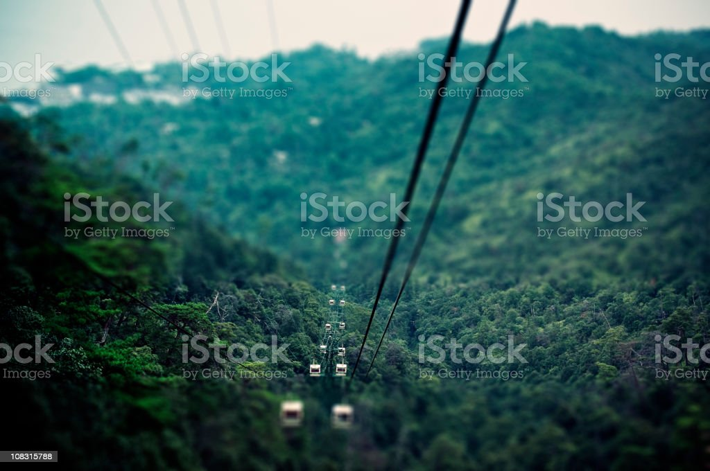 Tile shift cable car royalty-free stock photo