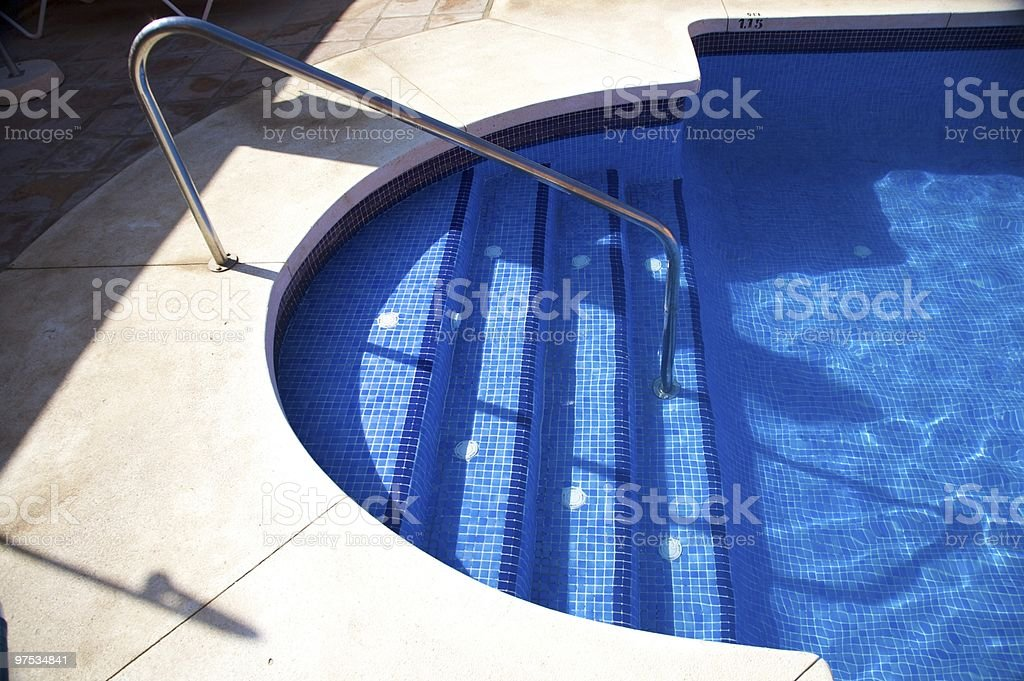 tile stairs pool royalty-free stock photo