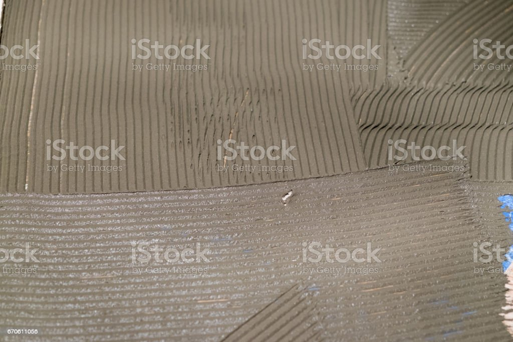 Tile Thinset Mud Cement stock photo