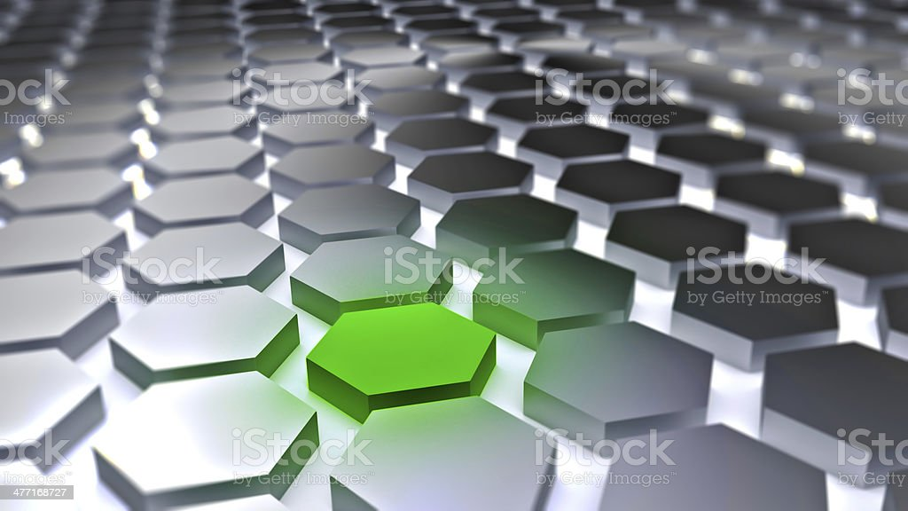 Tiled 3D hexagon backround stock photo