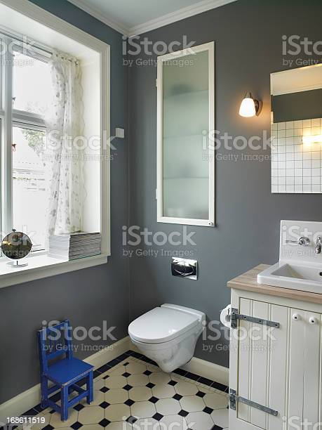Tiled Bathroom Stock Photo - Download Image Now