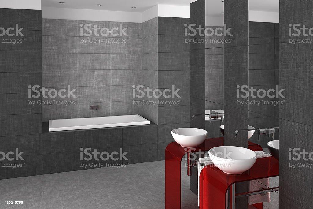 Geflieste Badezimmer Mit Doppelwaschbecken Und Badewanne Stockfoto Und Mehr Bilder Von Architektur Istock