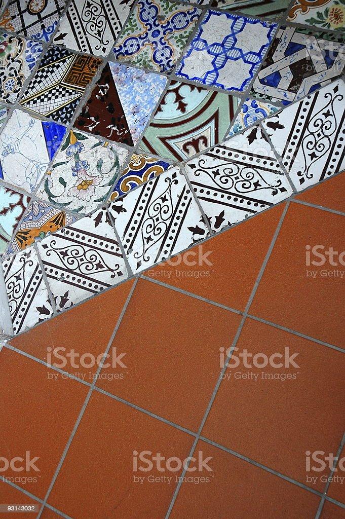 Tiled Floor, Sorrento, Italy. stock photo