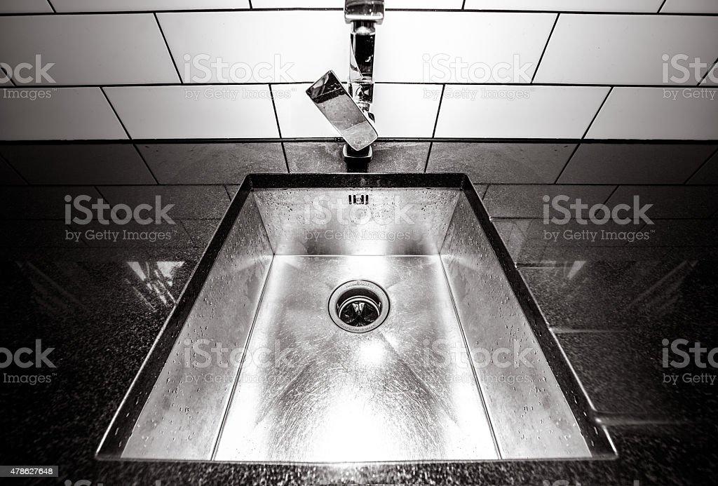 tiled granite kitchen stock photo