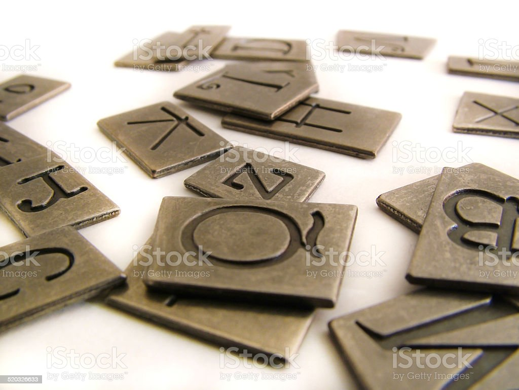 Tiled Letters stock photo