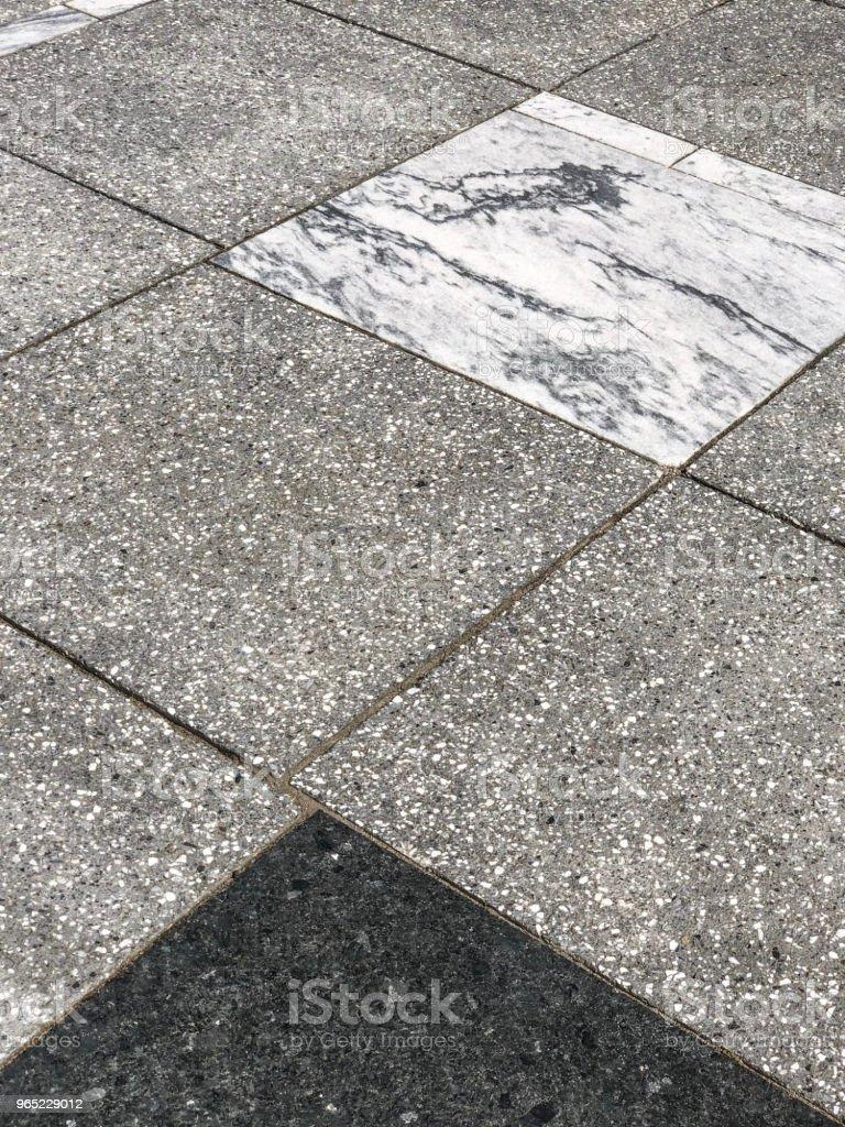 Tiled marble sidewalk design zbiór zdjęć royalty-free