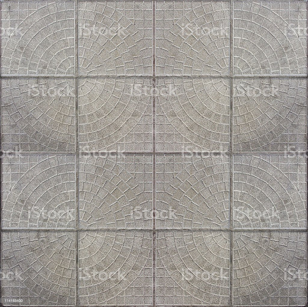 Tiled mosaic concrete pavement royalty-free stock photo