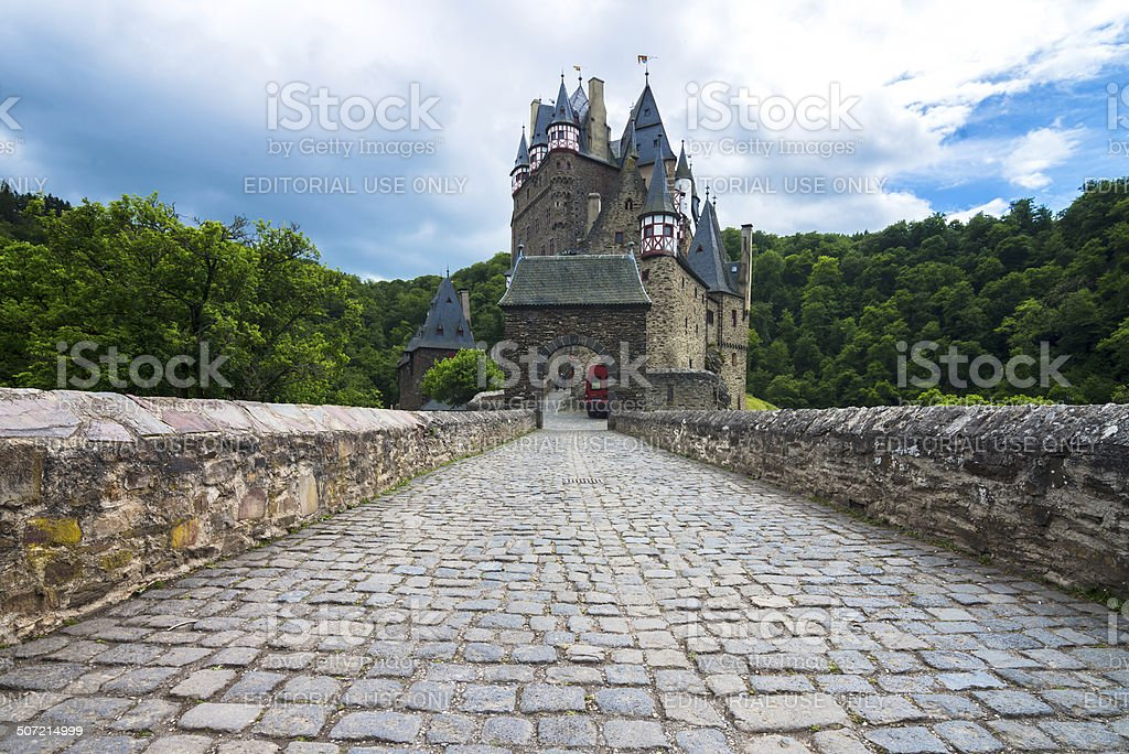 Tiled road stock photo