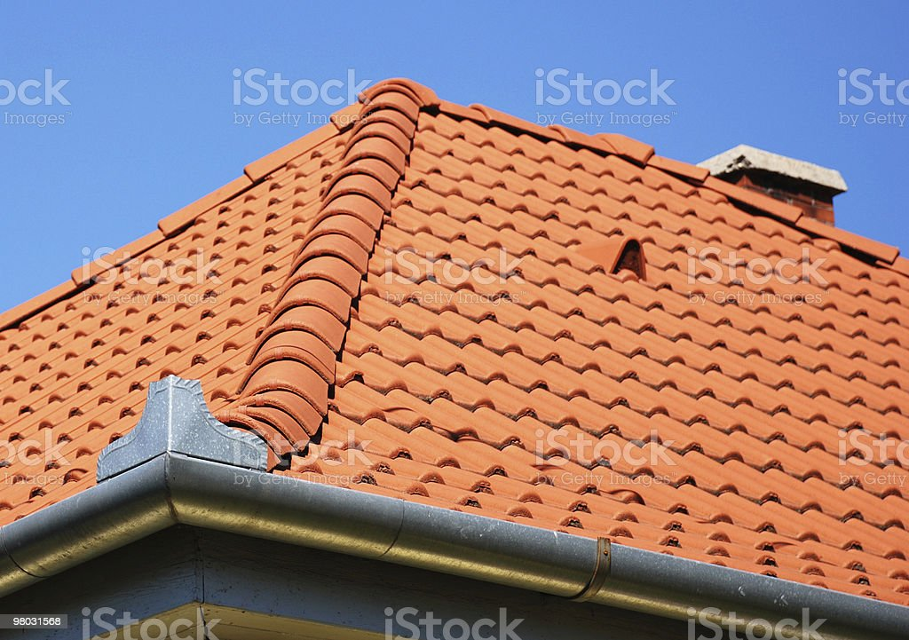 tiled roof and eaves royalty-free stock photo