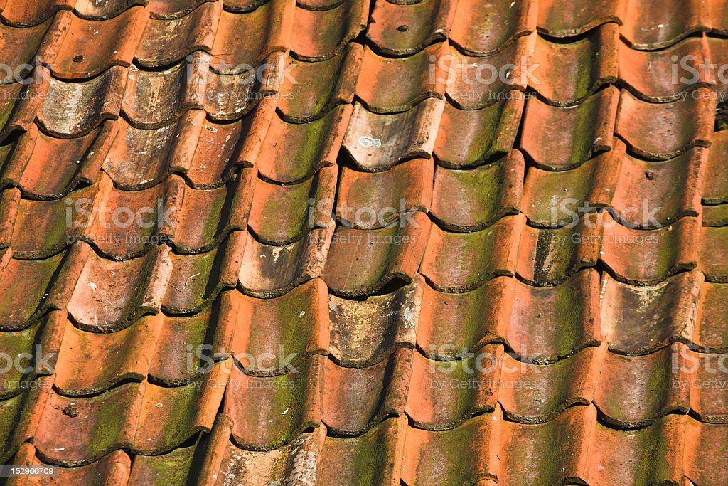 Tiled Roof Close Up stock photo
