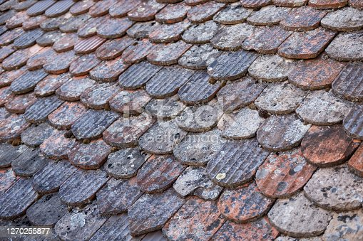 Tiled roof close-up