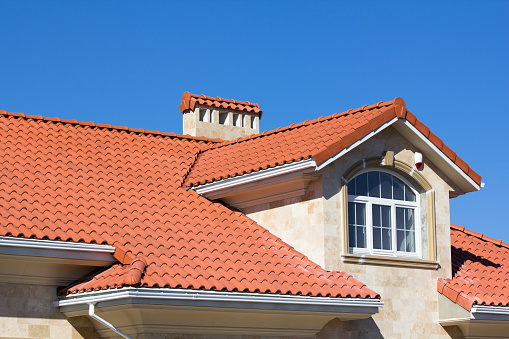 Tiled Roof Covering On House