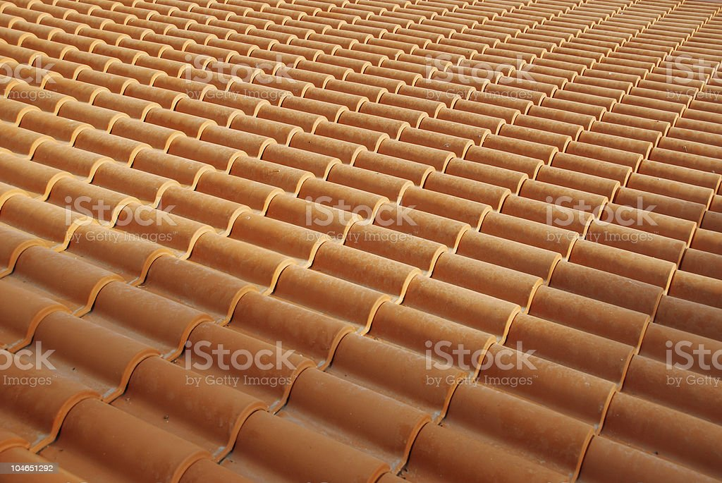 tiled roof royalty-free stock photo