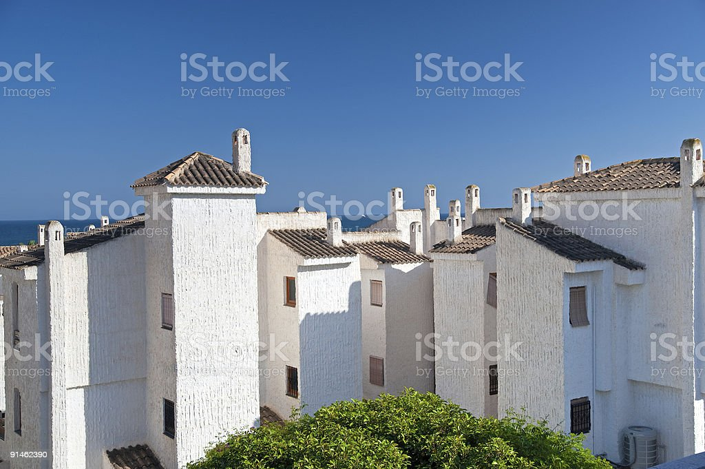 Tiled Roofs. Spain stock photo