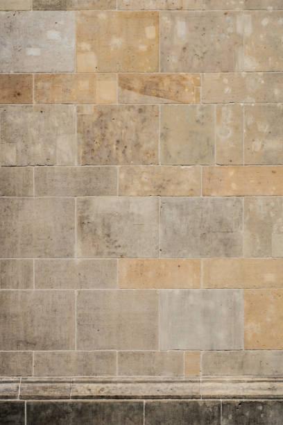 geflieste Stein Wand Hintergrund, antike Wandtextur - – Foto
