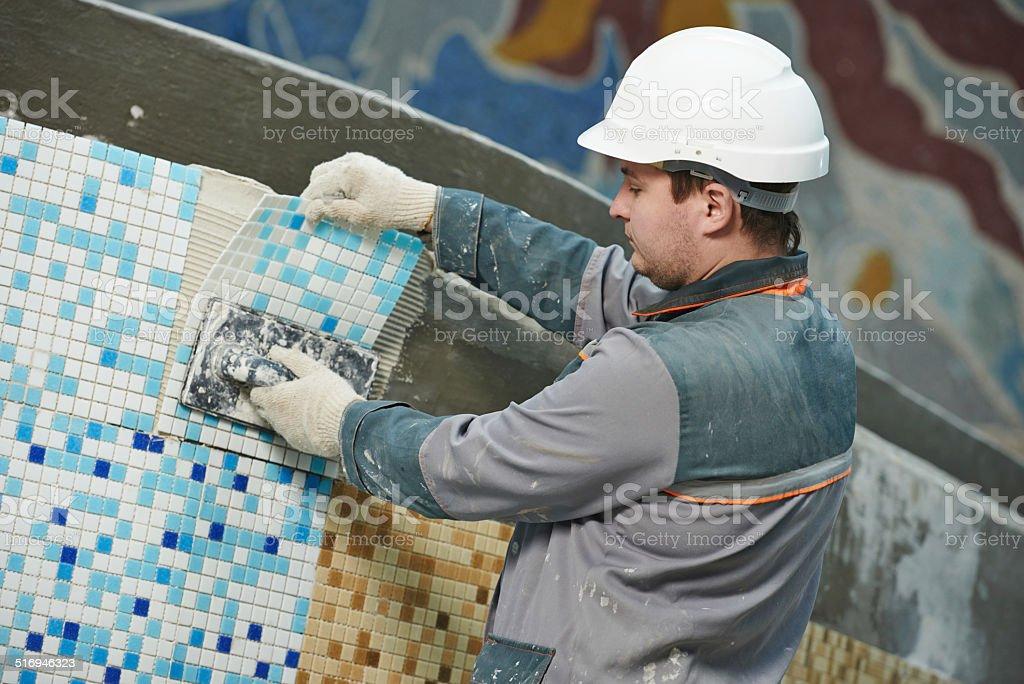tilers industrielle Etage Fliesen Renovierung – Foto