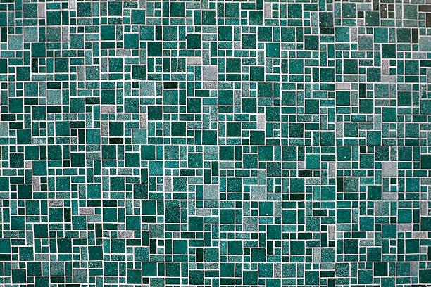 Tiles 1 (blue) stock photo