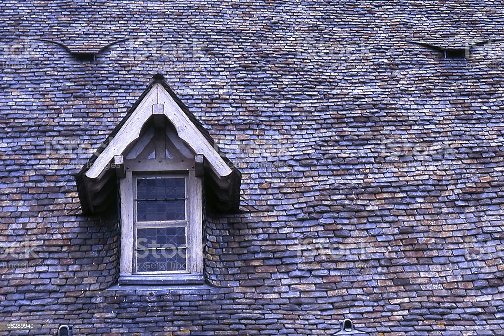 Tiles and Dormer Window. Saint Michaels Mount. France royalty-free stock photo