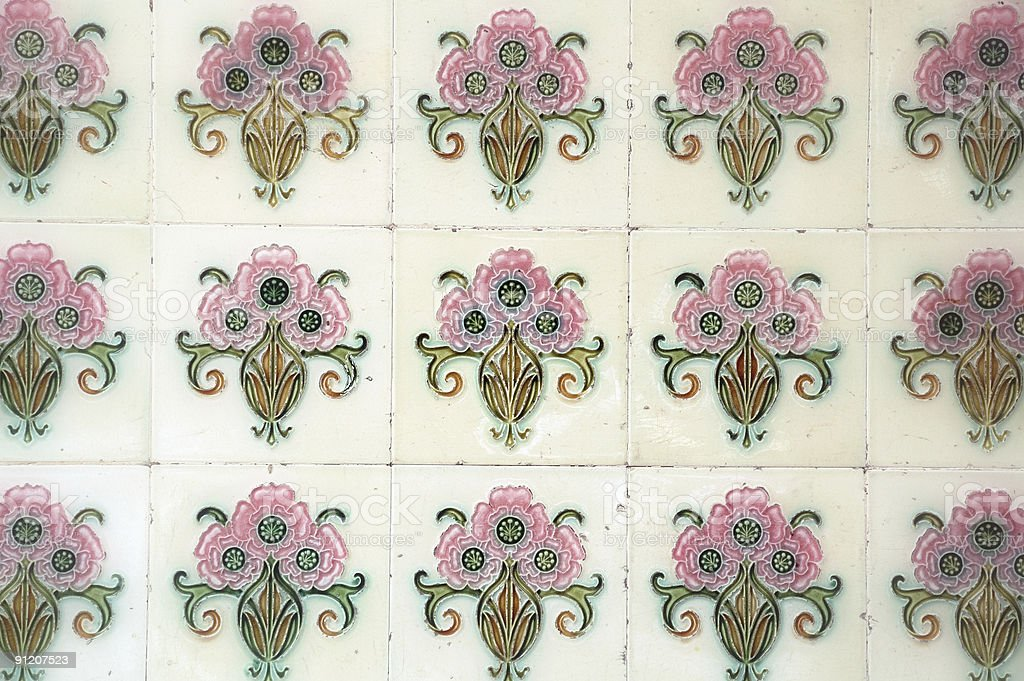 Tiles design in Chinatown royalty-free stock photo