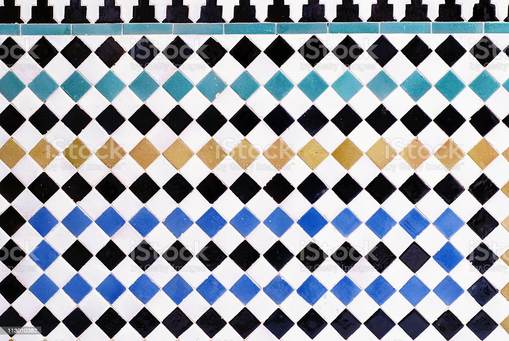 Tiles in Alhambra royalty-free stock photo
