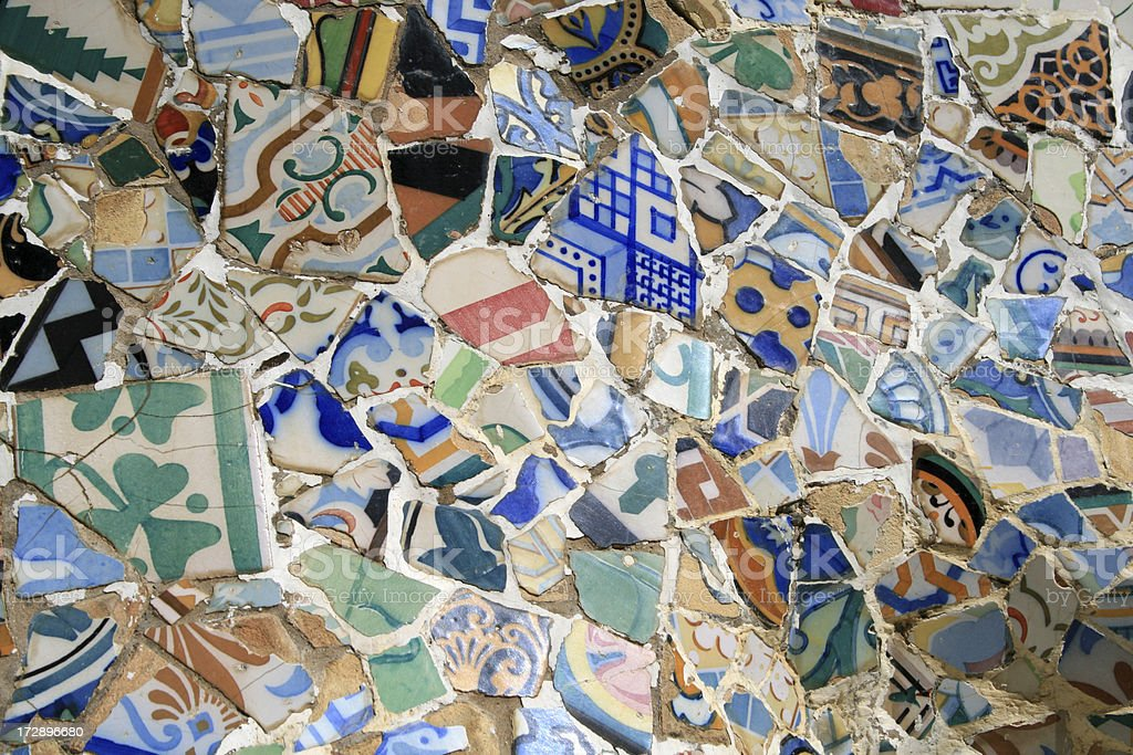 Tiles in Parc Guell royalty-free stock photo