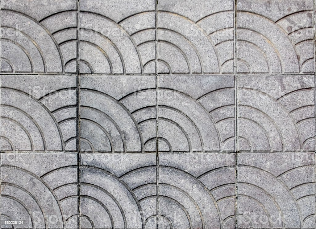 Tiles mortar stone striped tracery floor stock photo