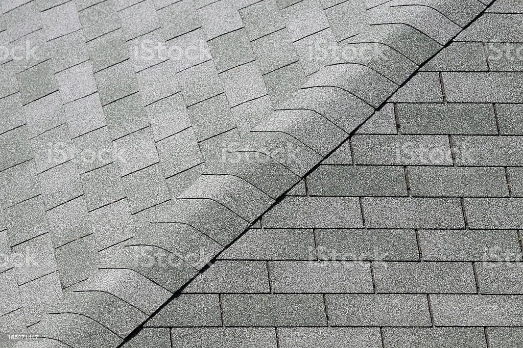 Tiles of a sloping roof stock photo