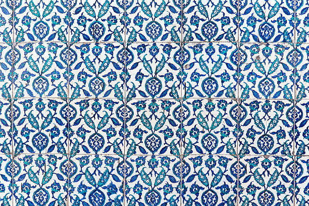 Tiles of walls of New mosque in Fatih, Istanbul stock photo