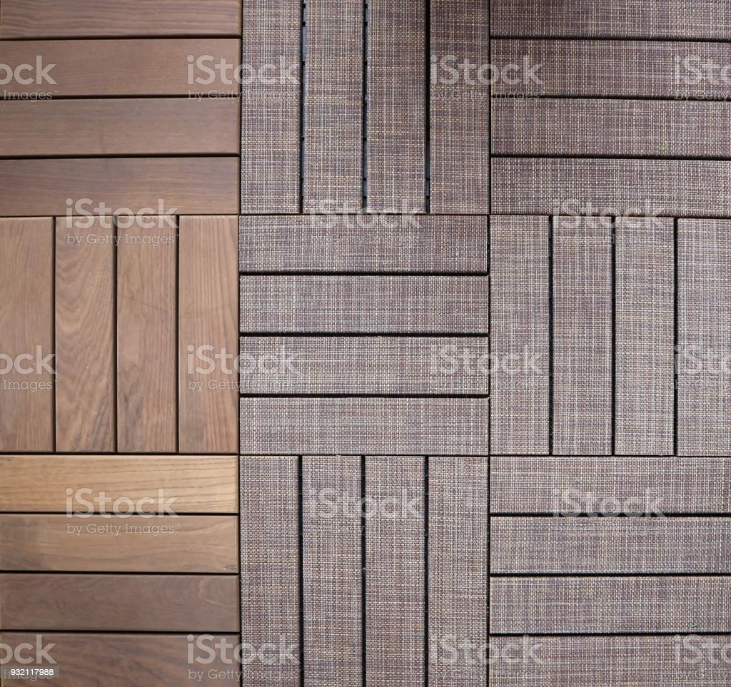 Tiles Of Wood And Covered Wood For Outdoor Floors Garden Or Backyard