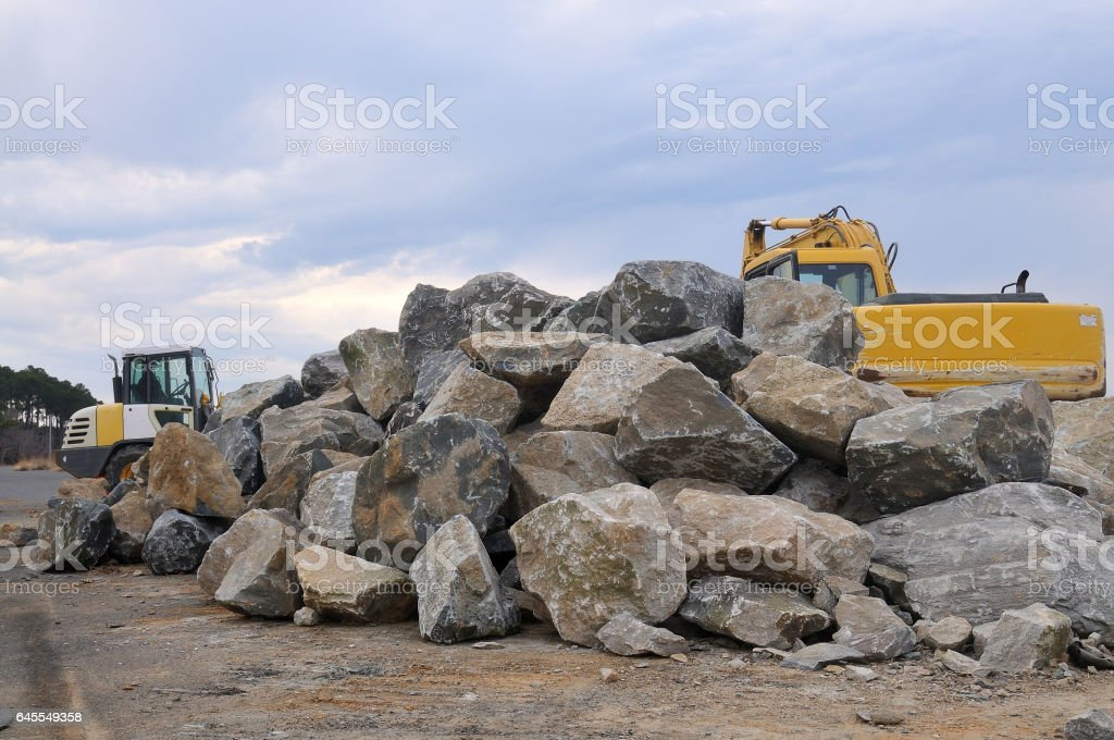 Tilghman Island RipRap Pile stock photo