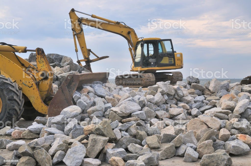 Tilghman Island RipRap Rock Pile stock photo