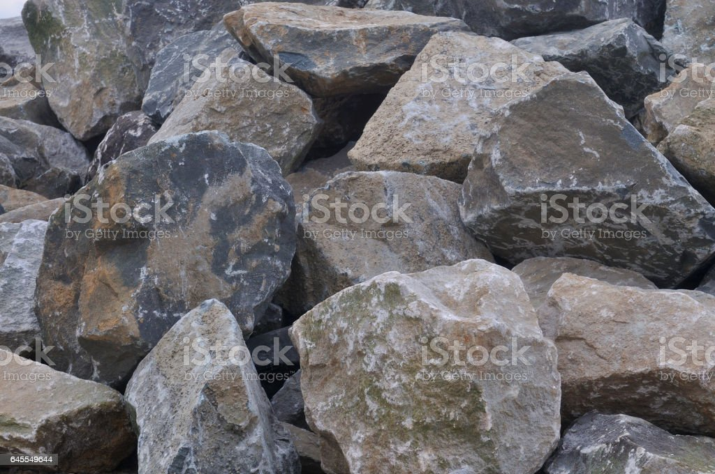 Tilghman Island RipRap Rockpile stock photo