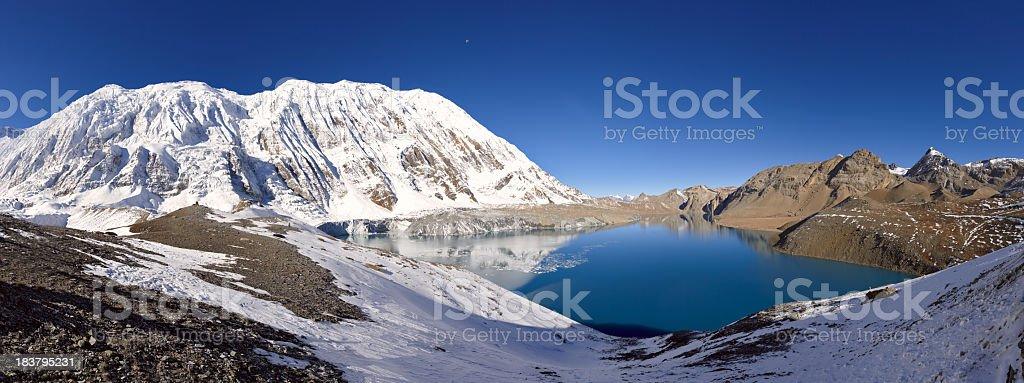 Tilicho lake. Everest and Annapurna Circuit. Nepal motives royalty-free stock photo