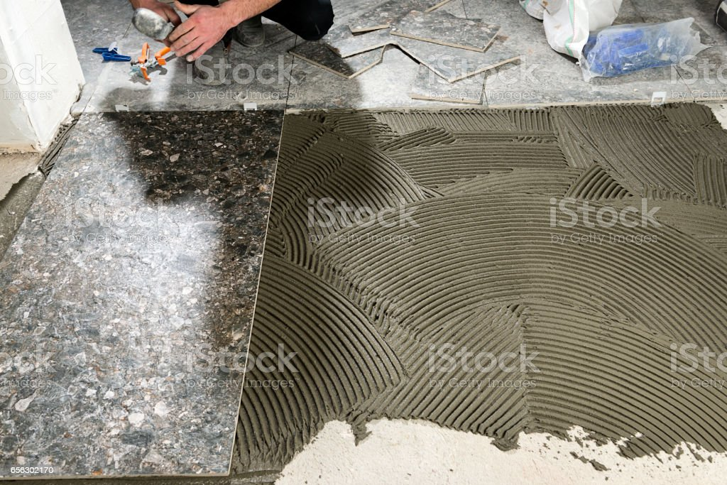Tiling and Flooring stock photo