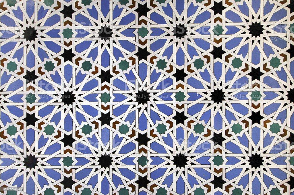 Tiling in Moorish style. stock photo